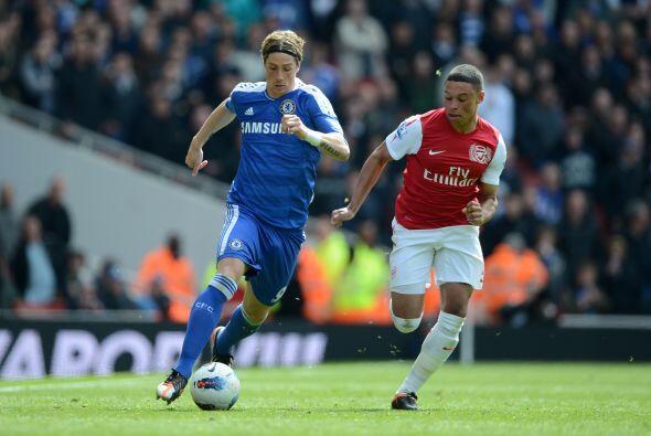 El español Fernando Torres no pudo marcar.