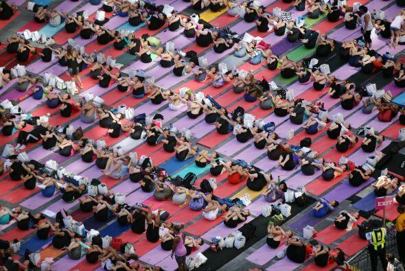 Muchos terminaban los ejercicios realmente relajados.