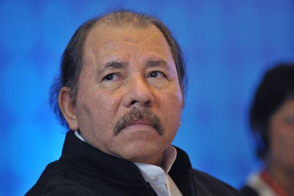 El mandatario de Nicaragua, Daniel Ortega, en el encuentro con SICA.