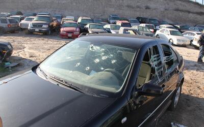 Uno de los miles de autos robados en EEUU que los narcos usaron en M&eac...