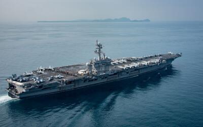 El portaaviones Carl Vinson podría llegar a la Península d...