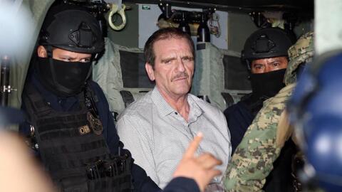 """Héctor """"El Güero"""" Palma a su regreso a México."""