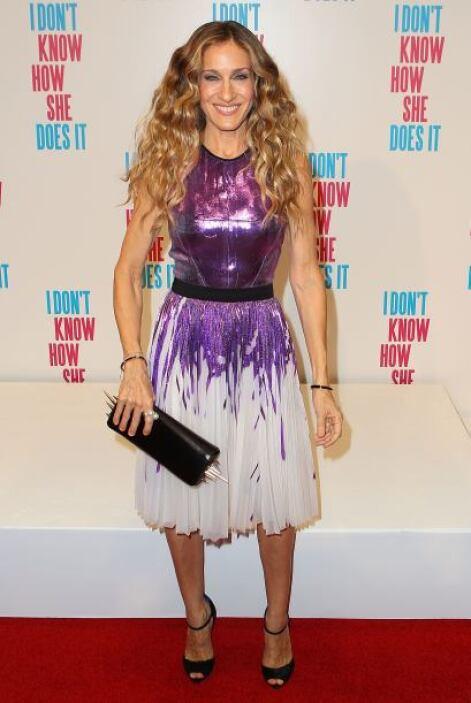 Aunque esta vez el vestido no nos parece tan feo, la verdad es que Sarah...