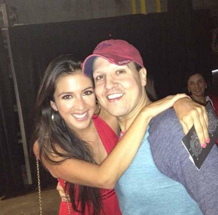"""""""Con mi Maity Interiano en el concierto de Carlos Vives"""", escribió Raúl..."""