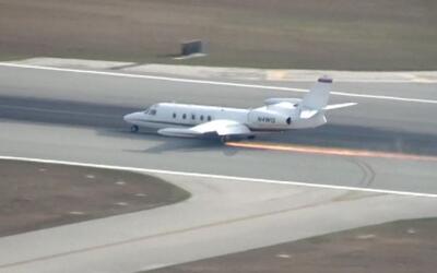 En video: El impresionante aterrizaje de emergencia de un avión en Florida