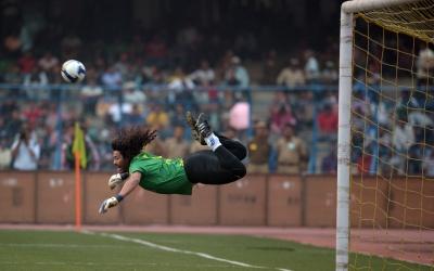 El ex portero colombiano inmortalizó el 'escorpión en Wembley.