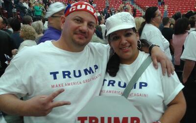 Evelio y Belkeys Vergara, cubanoamericanos, votarán por Trump en...