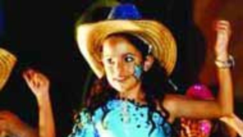 Sofía Conde demostró que es excelente bailarina.