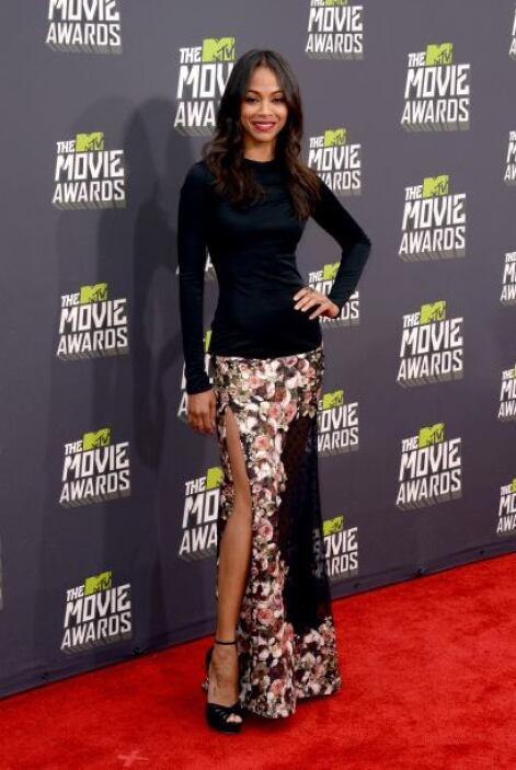 Zoe Saldana siempre ha sido de las celebridades que mejor viste para los...