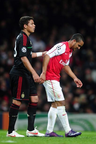 Las cosas se ponían más duras para el Arsenal ya que Theo...
