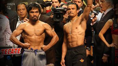 Juan Manuel Márquez y Manny Pacquiao estan en peso para su 4ta pelea est...