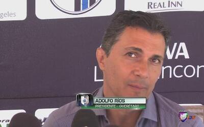 """Adolfo Ríos: """"Vamos a mandar una apelación por la tarjeta roja"""""""