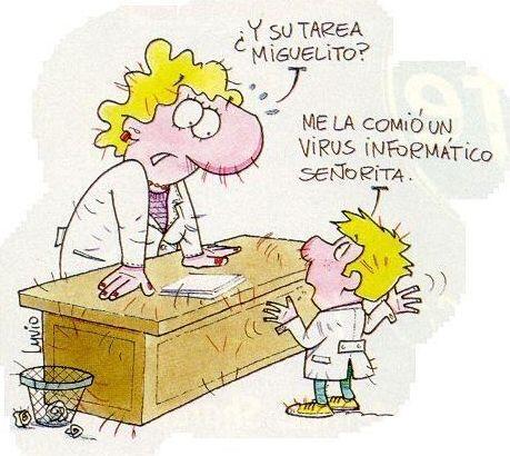 """""""¿Y la tarea Miguelito?""""   """"¡Me la comi&oacu..."""
