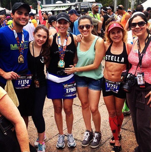 """¡Felicidades @satchapretto! So proud of you! #BFF #Runningfo..."