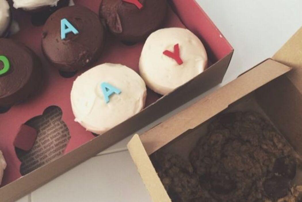 """Estos son los """"cupcakes"""" que recibió la chica por la mañana."""