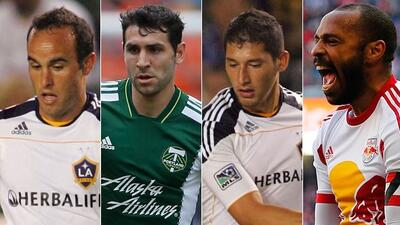 Landon Donovan, Diego Valeri, Omar González y Thierry Henry están en el...
