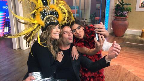 Detrás de cámaras: ¿Por qué Mela dice que su 'serfie' con Ricky Martin f...