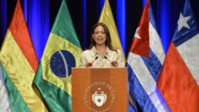 La diputada María Corina Machado fue destituida por participar en la OEA...