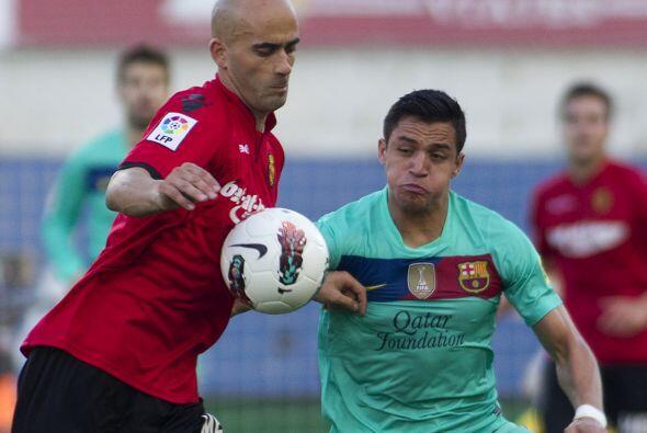 El chileno Sánchez fue una pesadilla para la defensa del Mallorca.