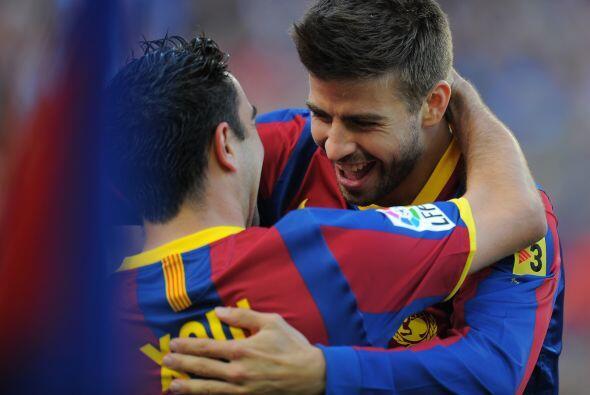 Con un cabezazo, marcó uno de los goles del Barcelona en la victoria en...