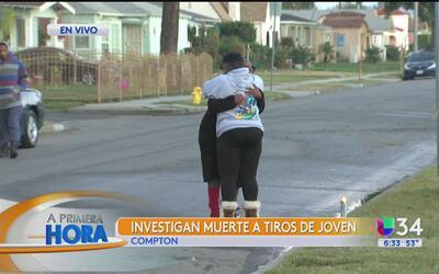 Joven murió a tiros en Compton