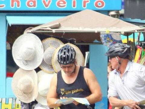 El actor fue de visita a Rio de Janeiro.