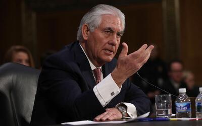 Rex Tillerson, nominado a Secretario de Estado por el Presidente Trump,...