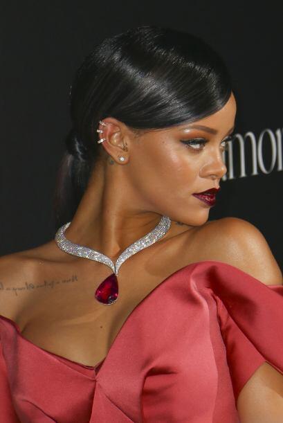 Pero el alma de la fiesta fue Rihanna.