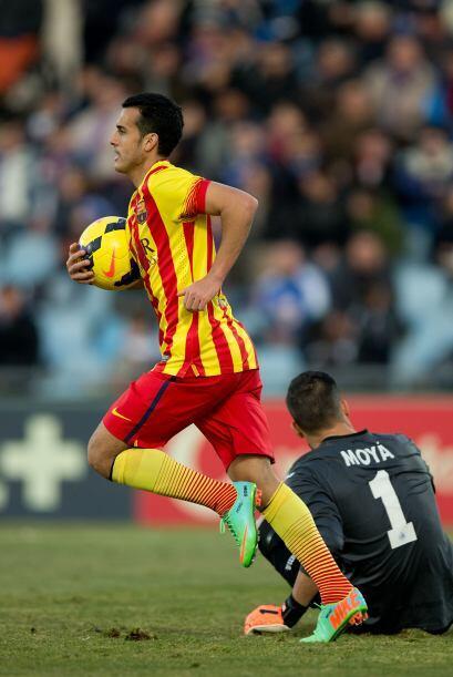 Pedro Rodríguez fue el encargado de echarse al equipo a los hombros, con...