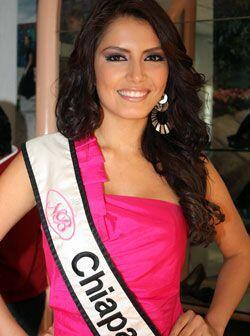 Claudia Espinoza Gómez de 23 años es Nuestra Belleza Chiapas 2009
