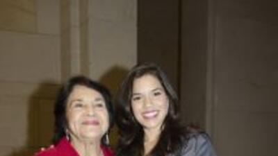 La gran lideresa y activista comunitaria, Dolores Huerta; quien luchó ju...
