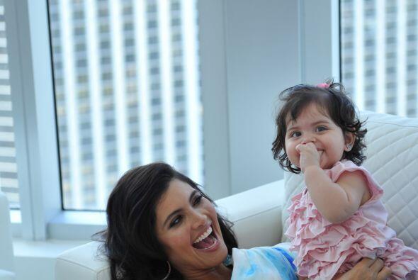 Chiqui es una mujer que disfruta cada momento con su hija.