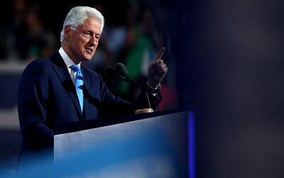 El expresidente Bill Clinton en la Convención Demócrata Na...