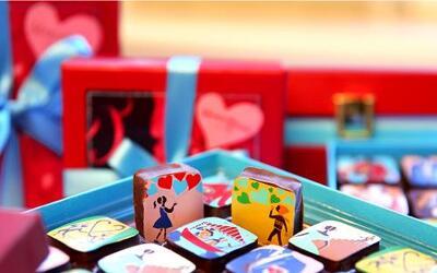 Cajas de chocolate para San Valentín