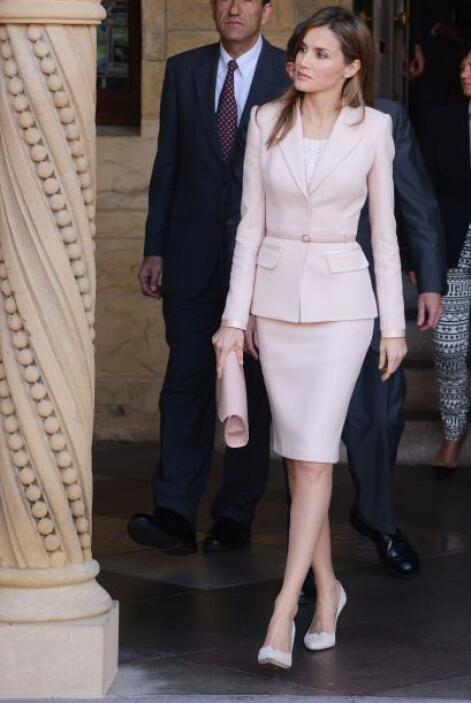 La Princesa Letizia se vio de muy buen humor en todo momento.