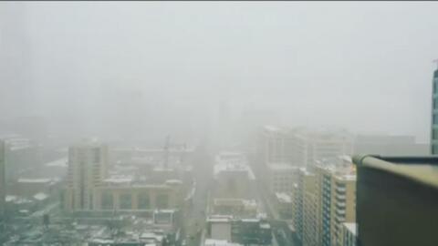Vea cómo Toronto se viste de blanco tras una fuerte nevada