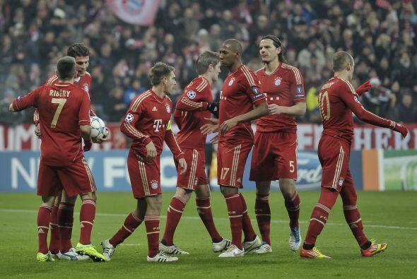Pero no bastó, incluso Ribery rdeondeó el marcador con el...