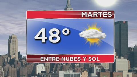 Martes de temperaturas frescas y cielo parcialmente nublado en Nueva York