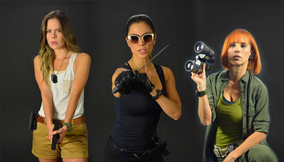 Katherine, Daga y Carlota son las agentes más sexys de la pantalla chica.
