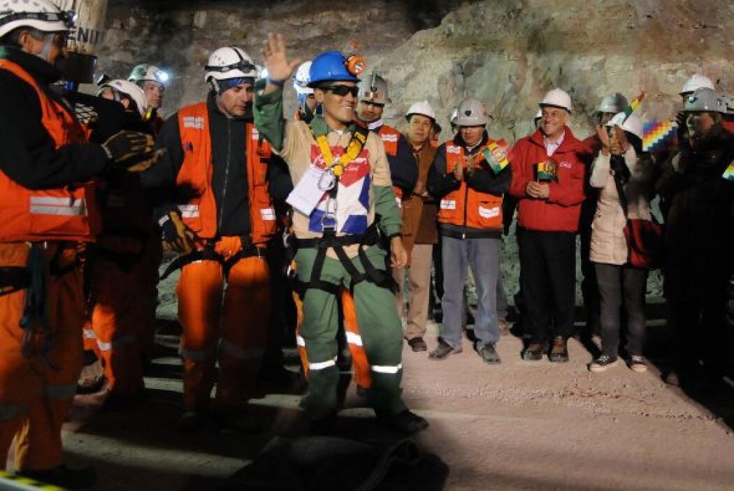 Carlos Mamani, de 24 años, fue el cuarto minero en ser rescatado. El úni...