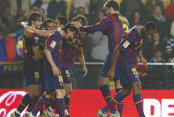 Al final, Barcelona se impuso por 4-1 y mantuvo el primer lugar en la Li...