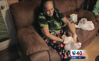 Una dolorosa herida en el pie tiene a una mujer de Carolina del Norte en...