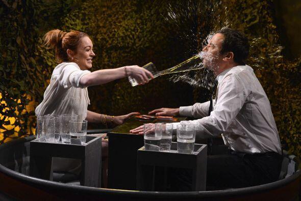 A para jueguitos... Lindsay Lohan jugó con fuego cuando visitó a Jimmy F...
