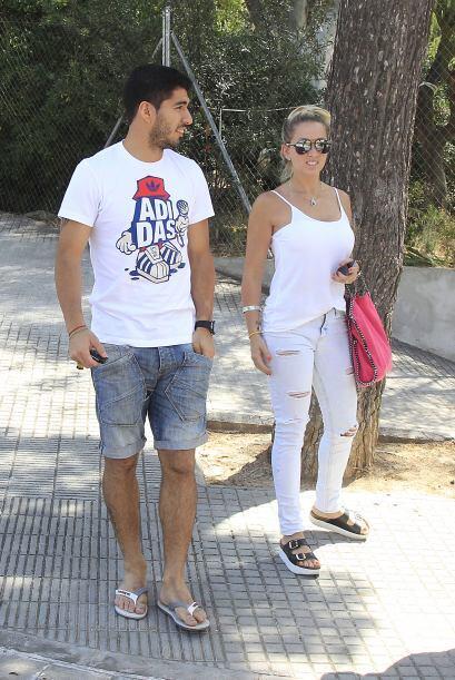 La presencia del delantero uruguayo, Luis Suárez, en el barrio Castellde...