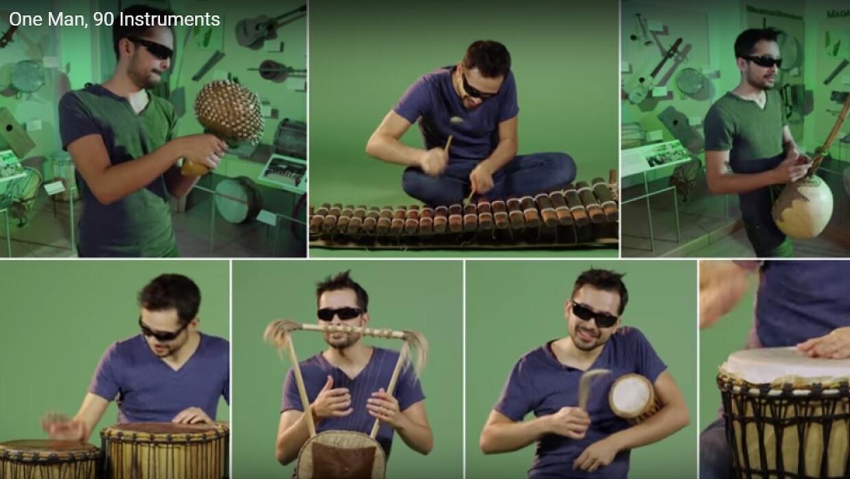 Un hombre y 90 instrumentos