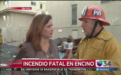 Dos muertos y varios heridos tras incendio en Encino