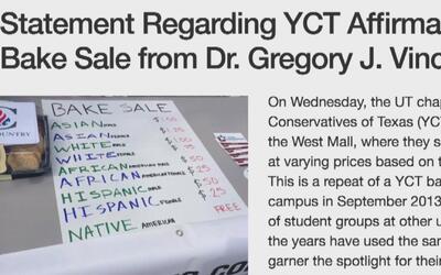 Universidad de Texas emite comunicado condenando la venta en sus instala...