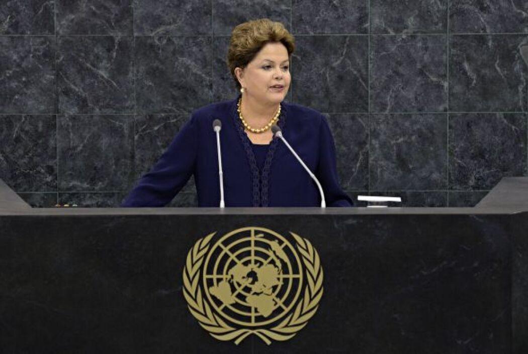 Aunque la mandataria brasileña Dilma Vana Rousseff asumió la presidencia...