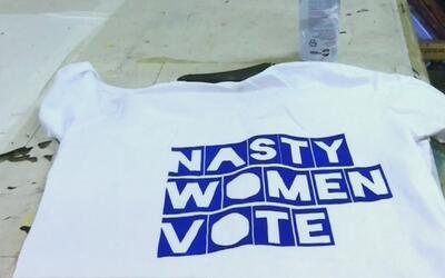 """""""Nasty Women Vote"""", la frase de moda en la campaña contra Donald Trump"""