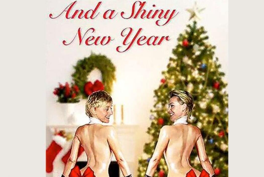 Ellen y su esposa decidieron poner un toque cómico en su trajeta navideñ...